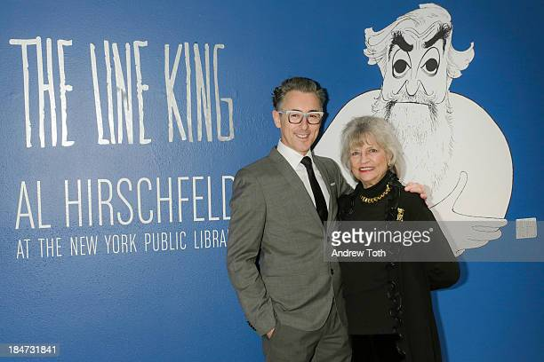 Alan Cumming and Louise Kerz Hirschfeld attend the VIP reception of The Line King Al Hirschfeld At The New York Public Library at The New York Public...