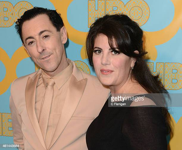 Alan Cumming and Monica Lewinsky attend HBO's Official Golden Globe Awards After Party at The Beverly Hilton Hotel on January 11 2015 in Beverly...