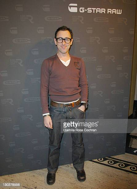 Alan Cumming during Mercedes Benz Fashion Week Fall 2007 - G-Star - Front Row and Backstage at Gotham Hall in New York City, New York, United States.