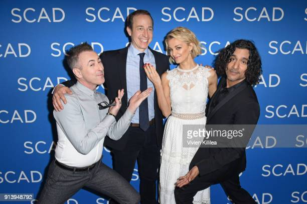 Alan Cumming Michael Rauch Bojana Novakovic and Naveen Andrews attend a press junket for 'Instinct' on Day 3 of the SCAD aTVfest 2018 on February 3...