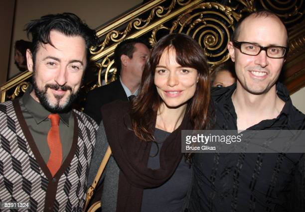 Alan Cumming Saffron Burrows and Grant Shaffer attends the opening night of Liza's At The Palace on Broadway at the Palace Theatre on December 3 2008...