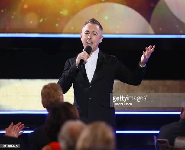 Alan Cumming speaks onstage during AARP The Magazine's 17th Annual Movies For Grownups Awards at the Beverly Wilshire Four Seasons Hotel on February...