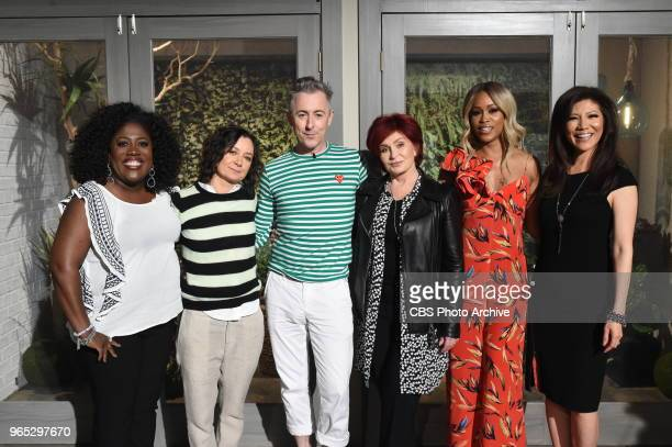 Alan Cumming visits The Talk Tuesday May 29 2018 on the CBS Television Network Sheryl Underwood Sara Gilbert Alan Cumming Sharon Osbourne Eve and...