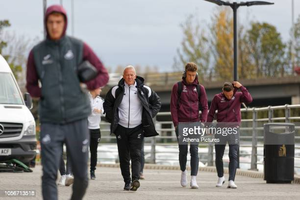 Alan Curtis, assistant coach for Swansea arrives prior to the game during the Sky Bet Championship match between Rotherham United and Swansea City at...