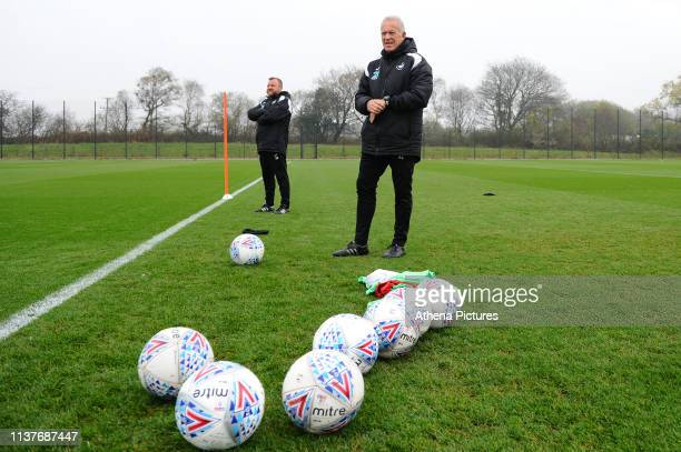 Alan Curtis, assistant coach for Swansea during the Swansea City Training at The Fairwood Training Ground on April 16, 2019 in Swansea, Wales.