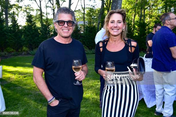 Alan Dalton and Laurie Ann Goldman attend AVENUE on the Beach Invites You To Celebrate Our July Issue at Mecox Barn on July 13 2018 in Bridgehampton...