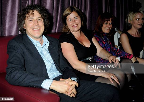 Alan Davies and Liza Tarbuck attend The Melissa Nathan Awards for Comedy Romance at Studio Valbonne on June 18 2008 in London England