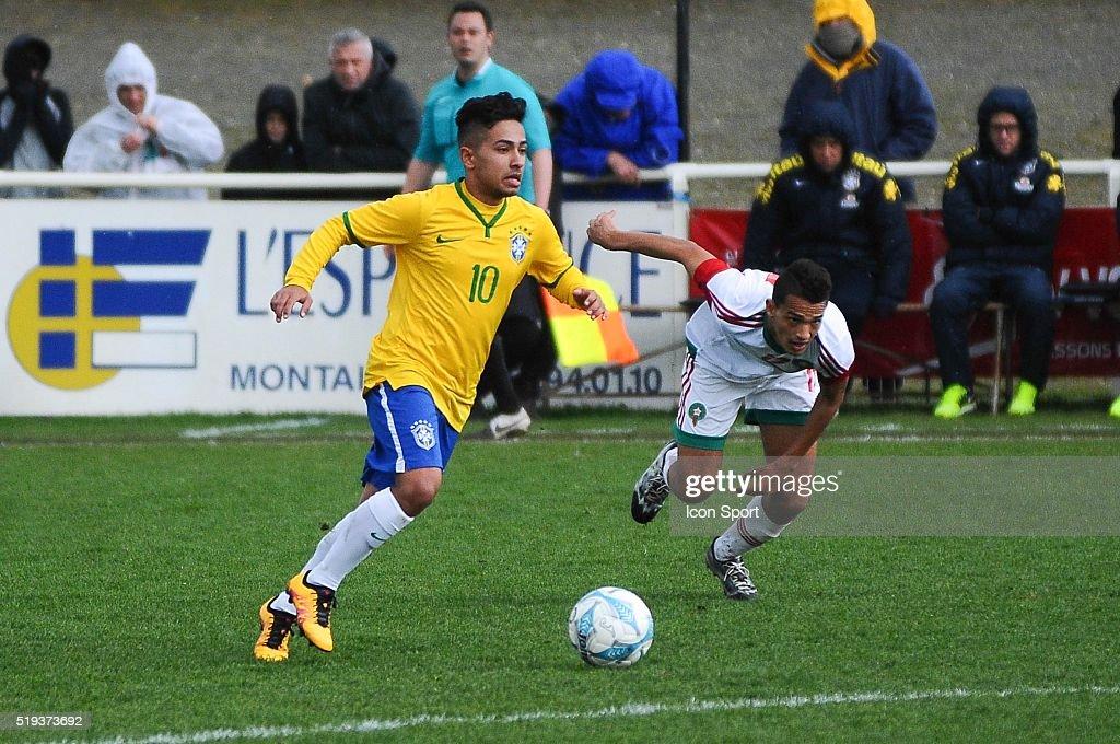 Brazil v Marocco - U16 Mondial football Montaigu : News Photo