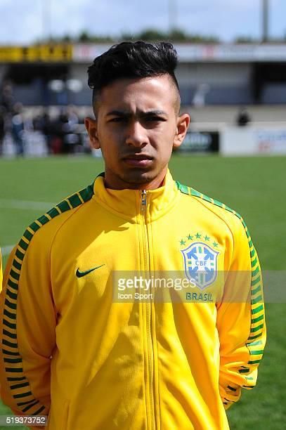 Alan De Souza Guimaraes during the U16 Mondial football match between Brazil and Marocco on March 28 2016 in Montaigu France