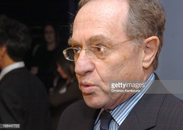 Alan Dershowitz during Inside Deep Throat New York City Premiere at Paris Theatre in New York City New York United States