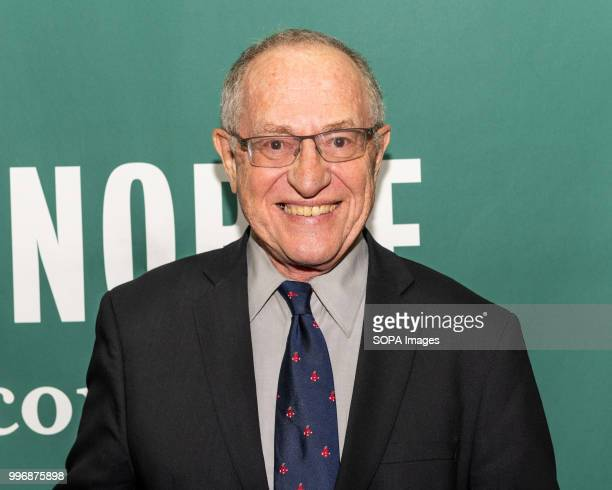 Alan Dershowitz promoting his newest book The Case Against Impeaching Trump at the Barnes Noble in Union Square in New York City