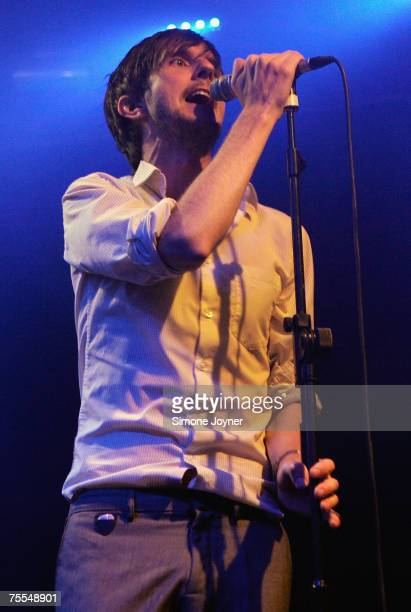 Alan Donohoe of The Rakes performs live on stage as part of 'The iTunes Music Festival' at the Institute of Contemporary Arts on July 18 2007 in...