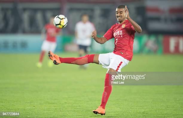 Alan Douglas Borges de Carvalho of Guangzhou Evergrande Taobao in action during the 2018 AFC Champions League Group G match between Gunagzhou...
