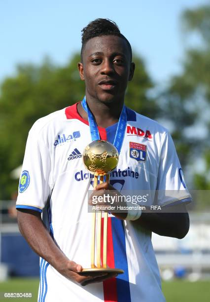 Alan Dzabana of Olympique Lyonnais poses with the Player of the Tournament award following his team's 10 victory during the Final match between...