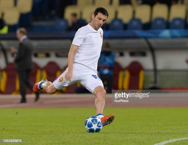 Alan Dzagoev during the UEFA Champions League group G football match AS Roma vs CSKA Moscow at the Olympic Stadium in Rome on october 23 2018
