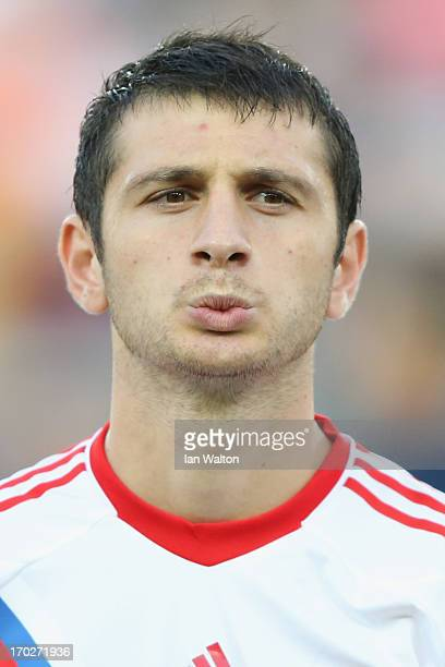 Alan Dzagoev of Russia during UEFA European U21 Championships Group B match between The Netherlands and Russia at Teddy Stadium on June 9 2013 in...