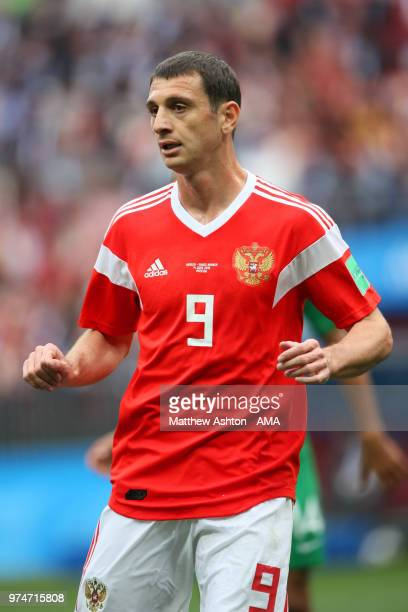 Alan Dzagoev of Russia looks on during the 2018 FIFA World Cup Russia group A match between Russia and Saudi Arabia at Luzhniki Stadium on June 14...