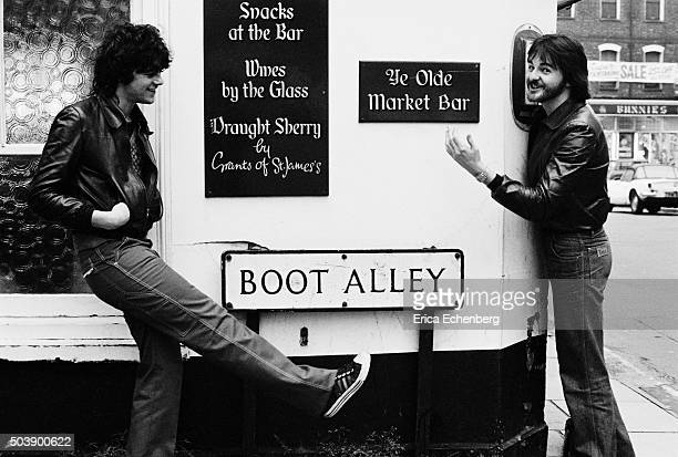 Alan Edwards , music PR on tour with Johnny Thunders and the Heartbreakers, St Albans,United Kingdom, 1977.