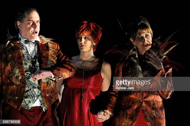 Alan Ewing as Lord Fortune Emma Bell as Tina and Kathryn Harries as Lady Fortune in the Royal Opera's production of Judith Weir's Miss Fortune...