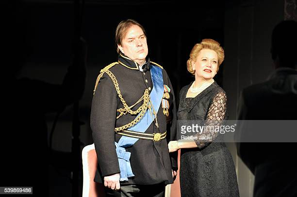 Alan Ewing as The Duke and Amanda Roocroft as The Duchess in the English National Opera's production of Thomas Ades Powder Her Face directed by Joe...
