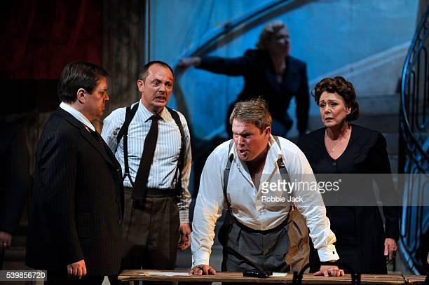 Alan Ewing as Zebul Robin Blaze as Hamor Robert Murray as Jephtha and Diana Montague as Storge in Welsh National Opera's production of George...