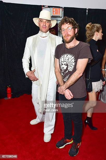 Alan Faena and Dustin Yellin attend Artsy and SoundCloud Present Collective Reality at The Faena Art Dome on November 30 2016 in Miami Beach Florida