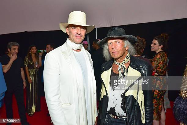 Alan Faena and James Goldstein attend Artsy and SoundCloud Present Collective Reality at The Faena Art Dome on November 30 2016 in Miami Beach Florida