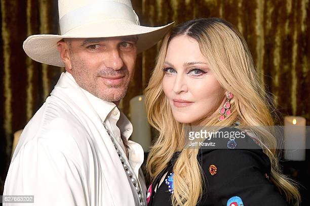 Alan Faena and Madonna attend her Evening of Music Art Mischief and Performance to Benefit Raising Malawi at Faena Forum on December 2 2016 in Miami...