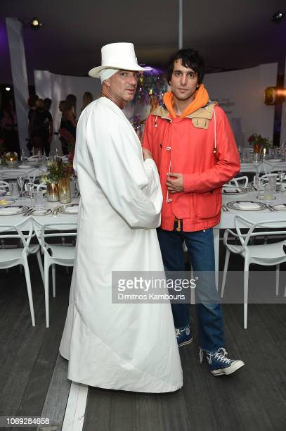 Alan Faena and Sebastian Faena attend Vladimir Restoin Roitfeld And Hilary Rhoda Attend L'Eden By PerrierJouet To Celebrate Launch Of CR WOMEN 2019...