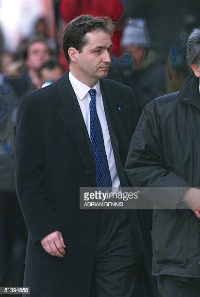 Alan Farthing fiancee of murdered television presenter Jill Dando arrives at The Central Criminal Courts in London 26 February 2001 Barry Bulsara is...