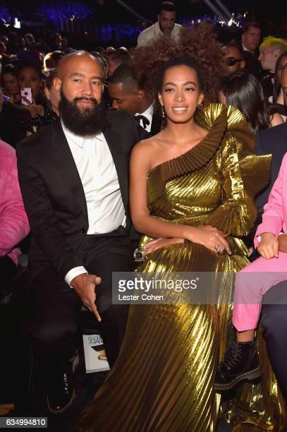 Alan Ferguson and singer Solange Knowles during The 59th GRAMMY Awards at STAPLES Center on February 12, 2017 in Los Angeles, California.