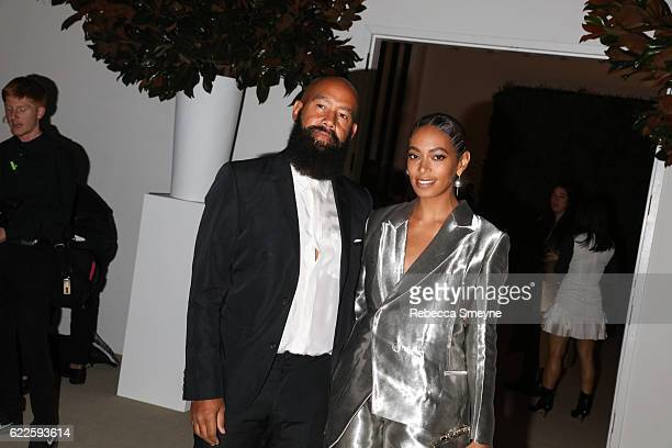 Alan Ferguson and Solange Knowles attend the 13th Annual CFDA/Vogue Fashion Fund Awards at Spring Studios on November 7, 2016 in New York City.
