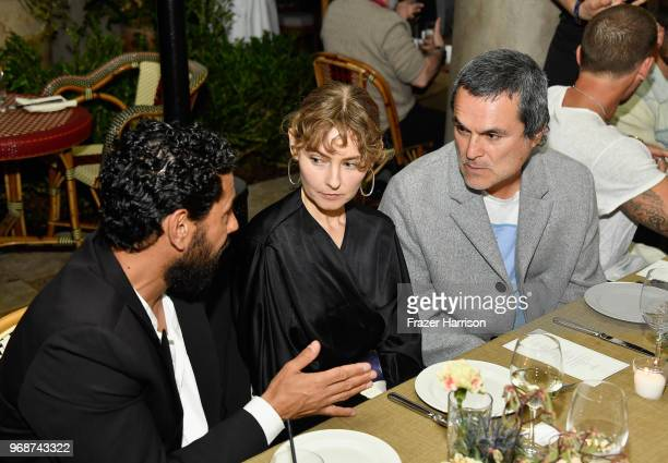 Alan Fernandez Sissy SainteMarie and Eddie Chacon attend MAOR Private Dinner at Chateau Marmont on June 6 2018 in Los Angeles California