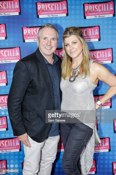 Alan Fletcher and Jennifer Hansen arrive for opening night of Priscilla Queen Of The Desert at Regent Theatre on January 30 2018 in Melbourne...