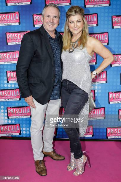 Alan Fletcher and Jennifer Hansen arrives for opening night of Priscilla Queen Of The Desert at Regent Theatre on January 30 2018 in Melbourne...