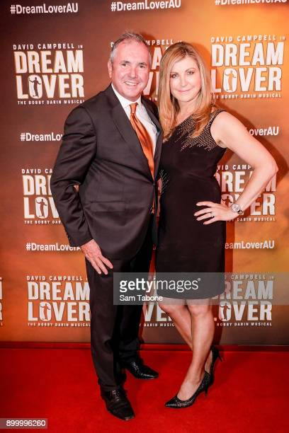 Alan Fletcher and Jennifer Hansen attends opening night of Dream Lover The Bobby Darin Musical at Melbourne Arts Centre on December 31 2017 in...