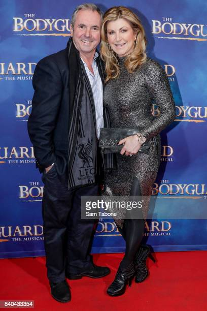 Alan Fletcher and Jennifer Hansen during a production media call for The Bodyguard at Regent Theatre on August 29 2017 in Melbourne Australia