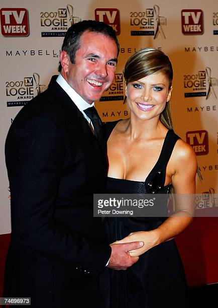 Alan Fletcher and Natalie Bassingthwaighte at the 2007 TV Week Logie Awards Arrivals at Crown Casino in Sydney NSW