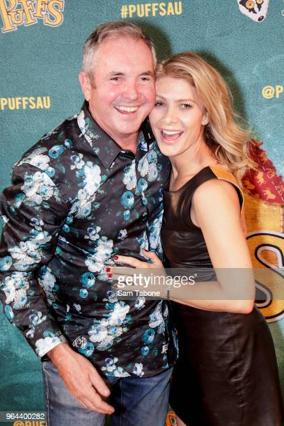 Alan Fletcher and Natalie Bassingthwaighte attends opening night of PUFFS or Seven Increasingly Eventful Years at a Certain School of Magic and Magic...