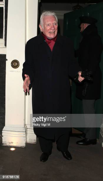 Alan Ford attends the Dunhill GQ preBAFTA filmmakers dinner and party cohosted by Andrew Maag Dylan Jones at Bourdon House on February 15 2018 in...