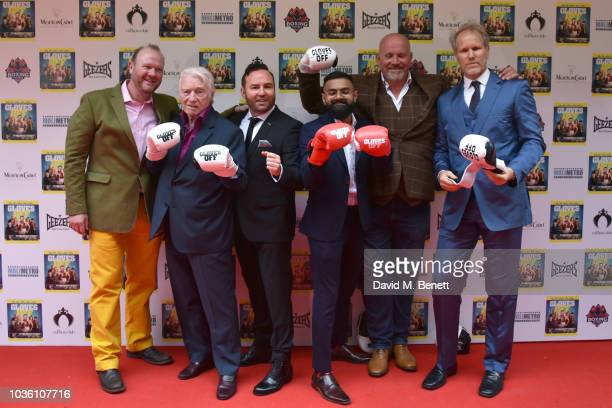 Alan Ford Brad Moore Kab Silva Adam Forgerty and Greg Orvis attend the UK Premiere of 'Gloves Off' at The Prince Charles Cinema on September 19 2018...