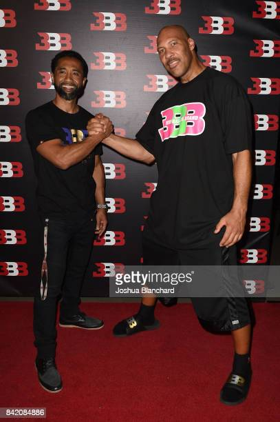 Alan Foster and LaVar Ball attend Melo Ball's 16th Birthday on September 2 2017 in Chino California