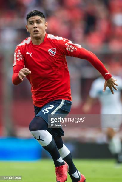 Alan Franco of Independiente looks on during the Primera Division match between Independiente and Gimnasia y Esgrima La Plata on May 6 2018 in Buenos...