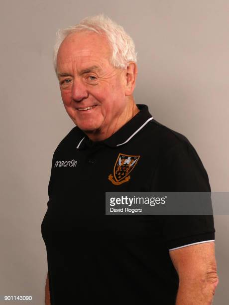 Alan Gaffney the Northampton Saints technical coaching consultant poses for a portrait at the photocall held at Franklin's Gardens on January 4 2018...