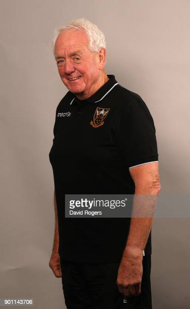 Alan Gaffney the Northampton Saints technical coaching consultant poses for a portrait at the photocall held at Franklin's Gardens on January 1 2018...