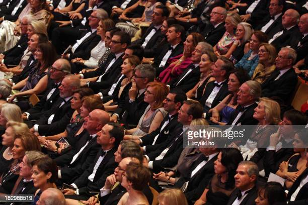 Alan Gilbert leading the New York Philharmonic at the opening gala concert at Avery Fisher Hall on Wednesday night September 25 2013This...