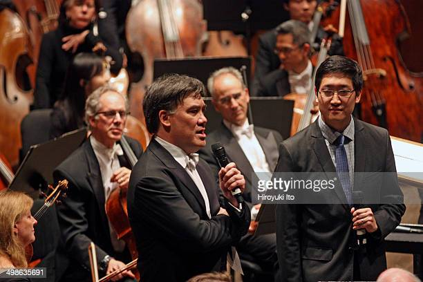 Alan Gilbert leading the New York Philharmonic in Anthony Cheung's Lyra at Avery Fisher Hall on Wednesday night June 11 2014This imageThe composer...