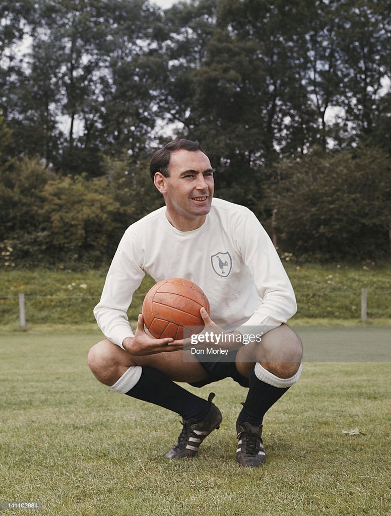Alan Gilzean of Tottenham Hotspur FC poses for a portrait on 1st June 1967 in Tottenham, London, Great Britain.