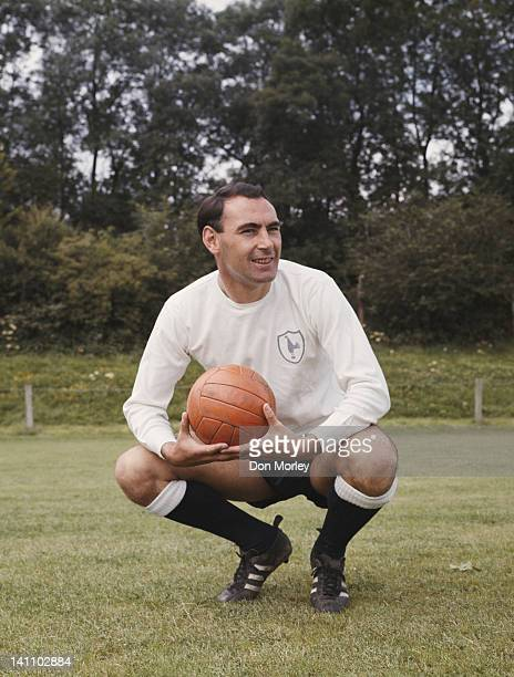 Alan Gilzean of Tottenham and Scotland international playing for Tottenham Hotspur against Liverpool FC in the Football League division 1 at White...