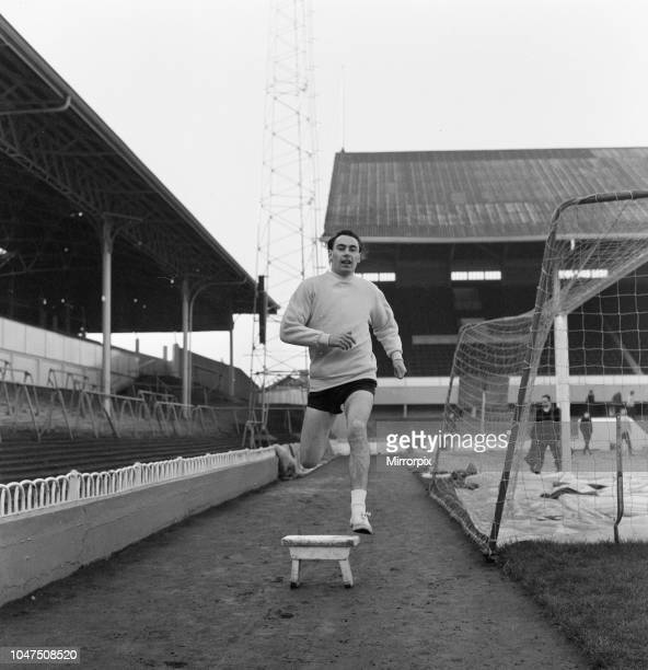 Alan Gilzean, Spurs new signing from Dundee, at a cost of 72,500 pounds, at White Hart Lane, to train ahead of match against Everton, when he will be...